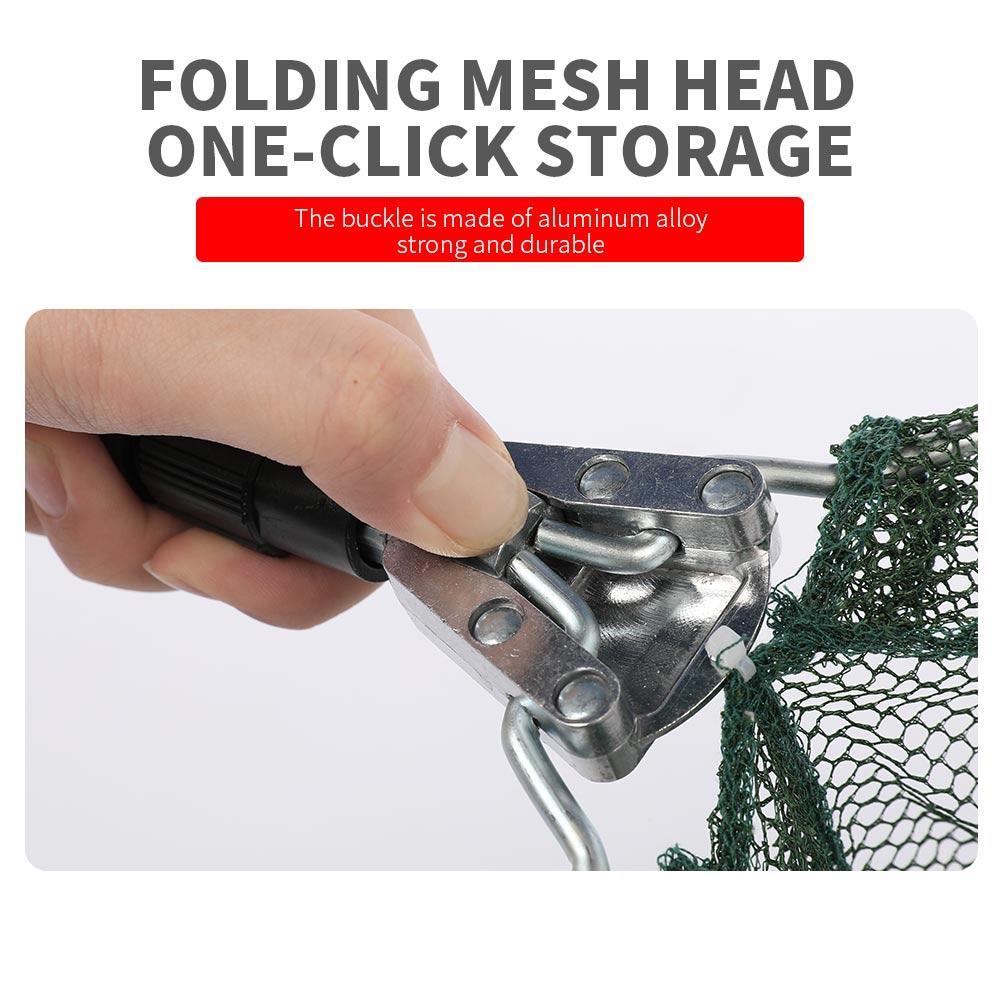 Foldable Fishing Folding Net Fishing Landing Net Aluminum Alloy Telescopic Mesh Release Lightweight Fish Catch for Bird