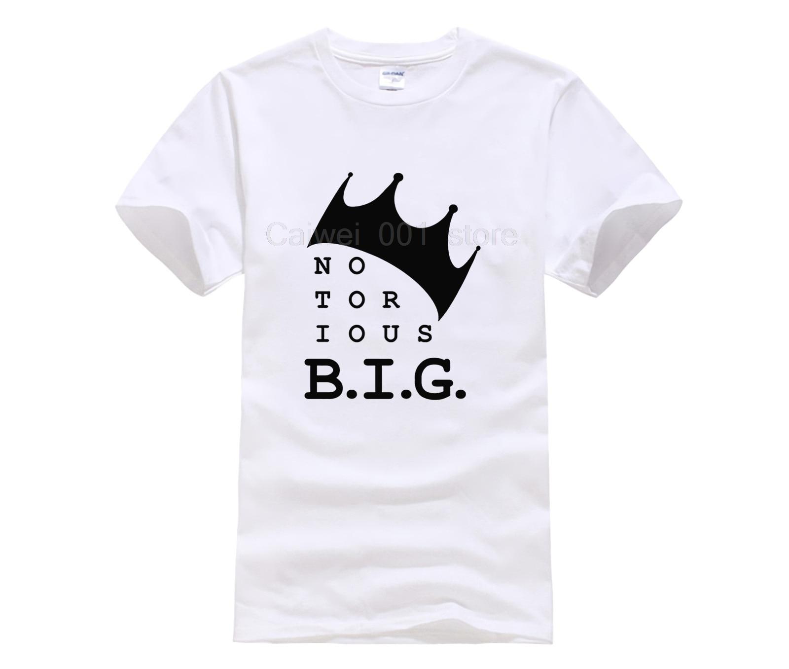 Camiseta de manga corta a la moda para hombre, Camiseta con cuello redondo y música de rey Biggie Small The Notorious B I G Big Poppa Hip Hop para hombre