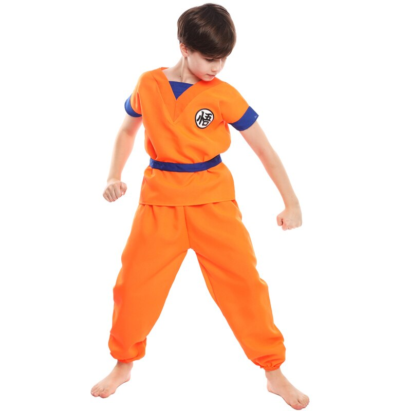 Boy Dragon Ball Son Goku Costume Children's Day Halloween Cosplay Fantasy Fancy Dress