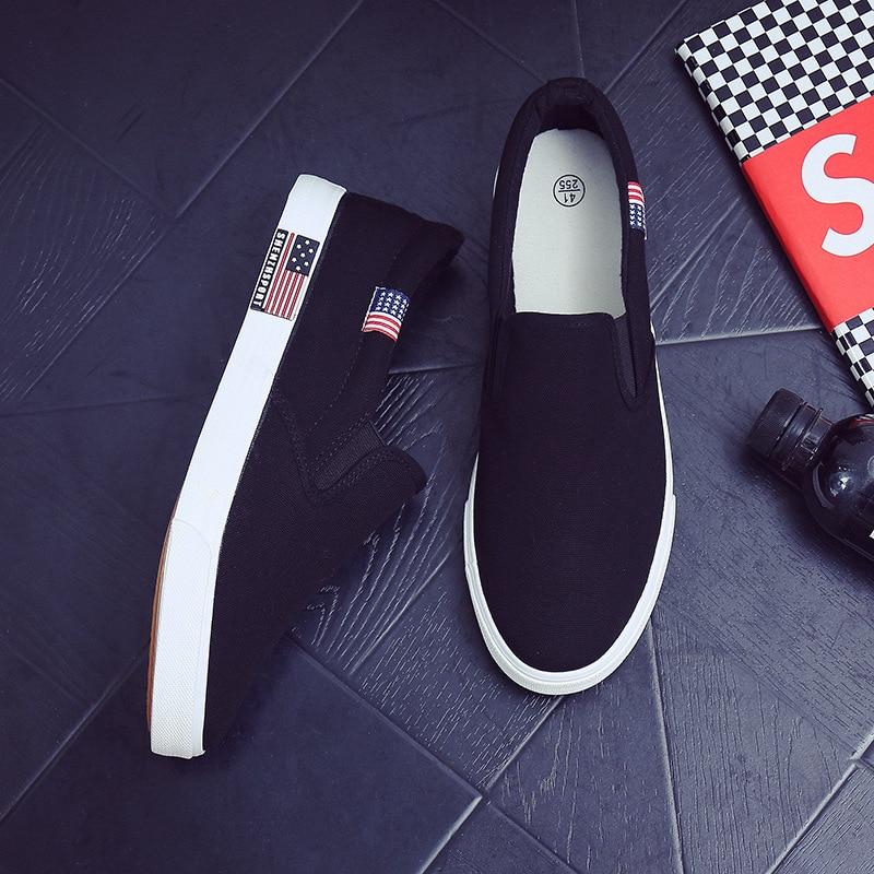 Korean lovers canvas shoes men's shoes flat bottom leisure middle school students' feet shoes Joker