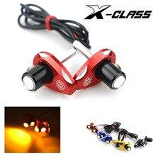 1 paire X-CLASS universel moto LED Mini clignotant CNC matériel multicolore aigle oeil forme clignotants