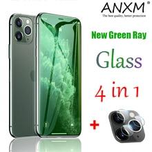 Vidro temperado para iphone 11 pro x xr xs max alta luz de raio verde vidro protetor completo para iphone 7 8 plus se 2020 filme de vidro
