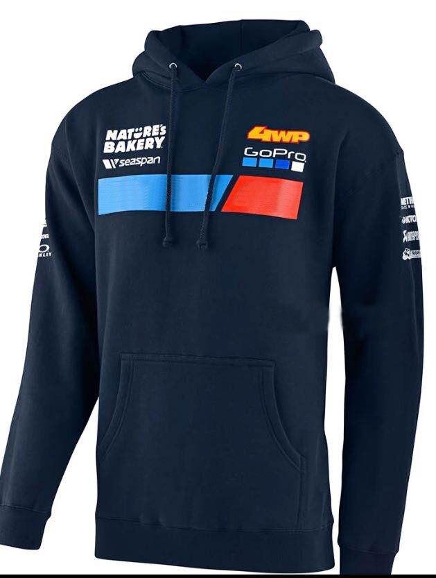سترة قطنية لعام 100% مناسبة لدراجات نارية موديل KTM Team Motocross سترة شتوية دافئة رياضية زرقاء للرجال سترات بغطاء للرأس للسباق