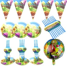 Game Plants vs Zombies Disposable Party Tableware Sets Kids Birthday PVZ Party Decor Baby Shower Car