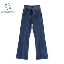 Women Straight Jeans Fashion Streetwear Baggy Casual Denim Wide Leg Pants Tide Autumn Female High Wa