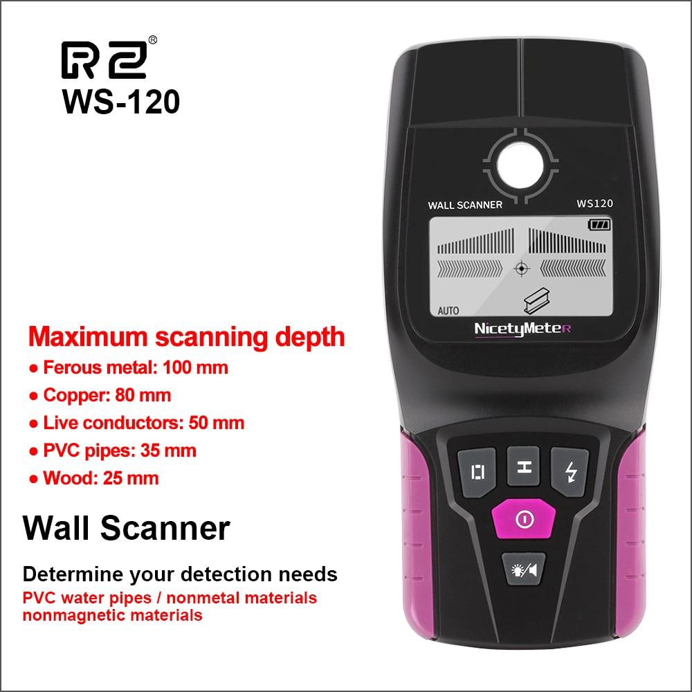 RZ-ماسح ضوئي رقمي محمول متعدد الوظائف ، كاشف حائط احترافي مع كابل مباشر ، كاشف PVC لأنابيب المياه والمعادن