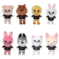 skzoo plush toys stray kids 20cm cartoon stuffed animal plushies doll bbokari leebit wolf chan puppym kids adults fans gift