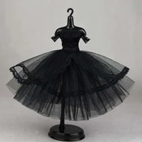 16 bjd clothes elegant black off shoulder lace dress for barbie clothes tutu ballet dresses 16 dolls accessories kid toy gifts