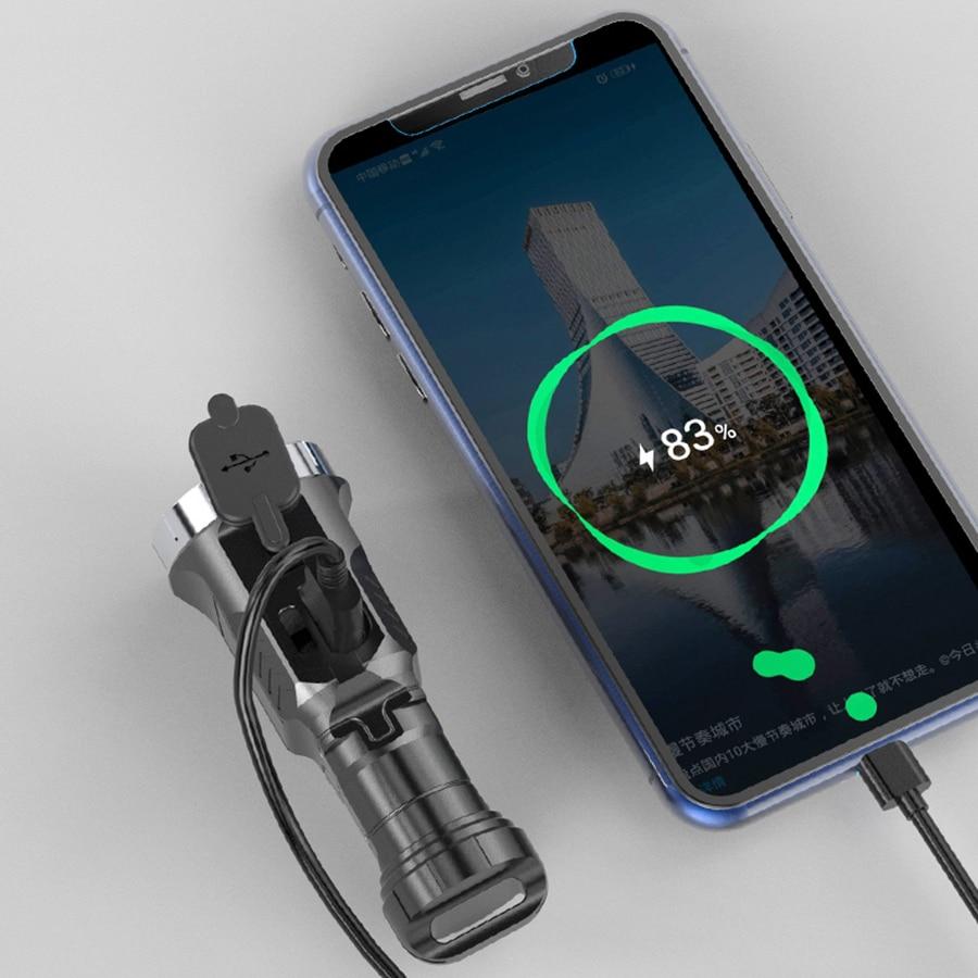 Glare Mini Flashlight Bright Outdoor Portable Rechargeable Torch Battery Aluminum Alloy Fishing Lanterna Flashlights EB50SD enlarge