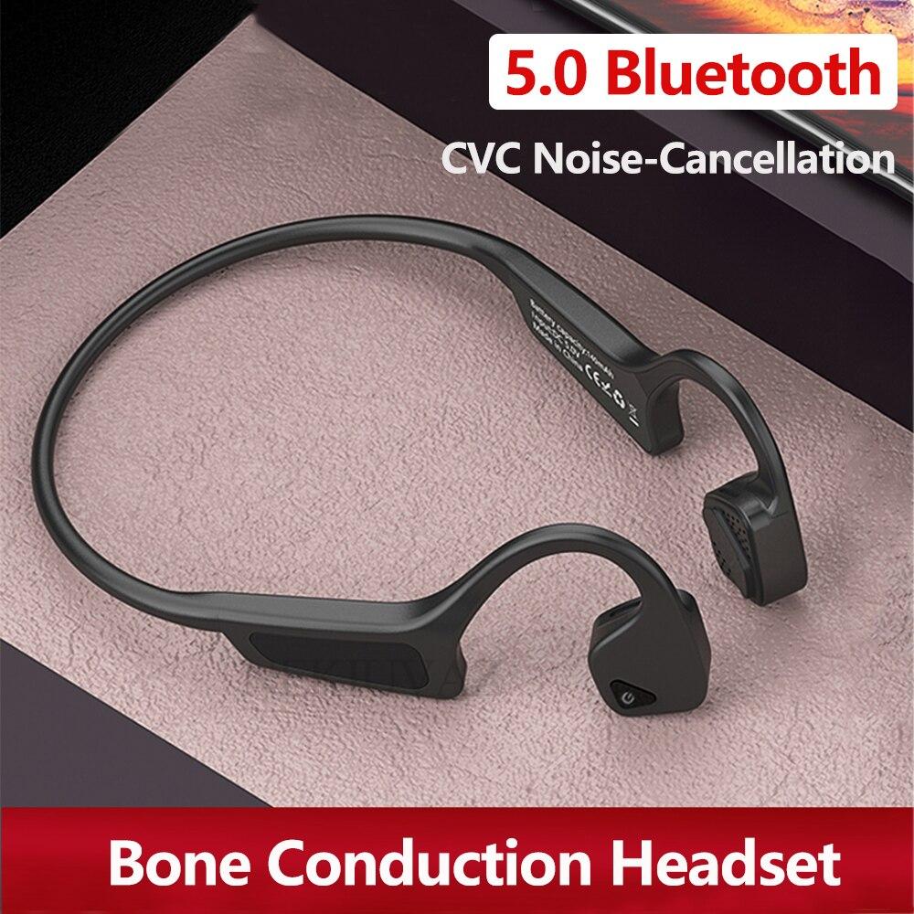 Auriculares de conducción ósea auriculares Bluetooth con auriculares estéreo deporte TWS auriculares inalámbricos para iPhone