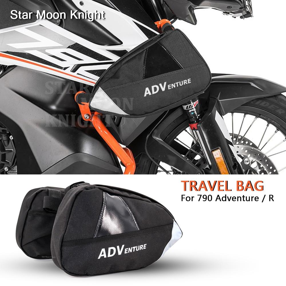 For 790 Adventure 790 Adventure R ADV Motorcycle Accessories Box Rack Side Bag Luggage Rack Travel Place Waterproof Bag