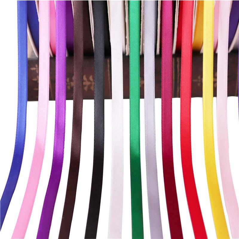 5 yardas/rollo lazo de seda de raso DIY grogrén cintas con lazo regalos tarjeta boda fiesta DIY decoración regalo embalaje accesorios 12mm