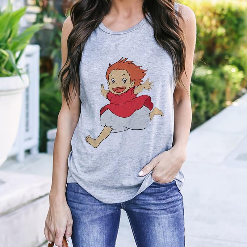 Camisetas con gráficos de Anime Kawaii para mujer, camiseta divertida para mujer,...