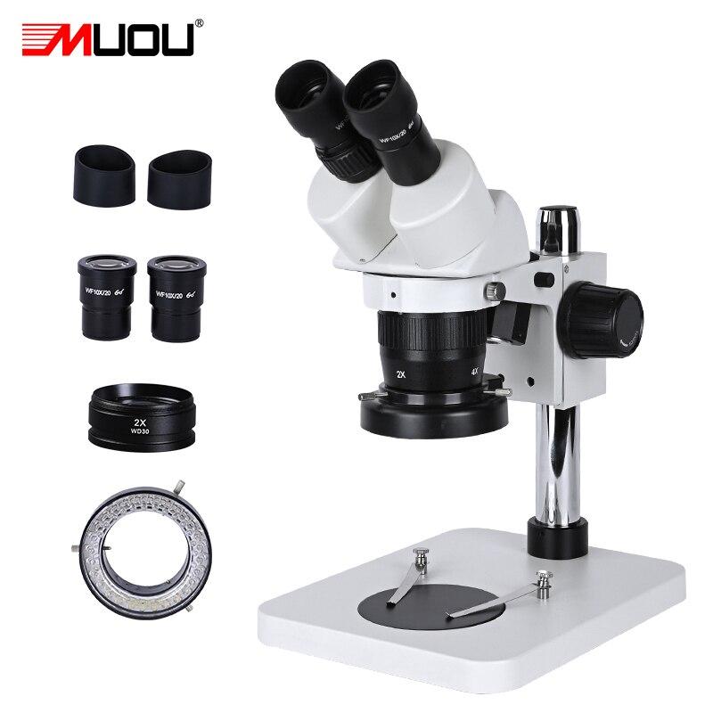 مجهر ستيريو Zoom 20X-80X ، مجهر لحام احترافي عالي الدقة ، إصلاح الهاتف الذكي PCB الصناعي الصغير