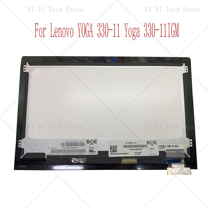 11,6 pulgadas nuevo y Original para Lenovo YOGA 330-11 Yoga 330-11IGM Flex 6-11IGM pantalla LCD táctil digitalizador Asamblea marco