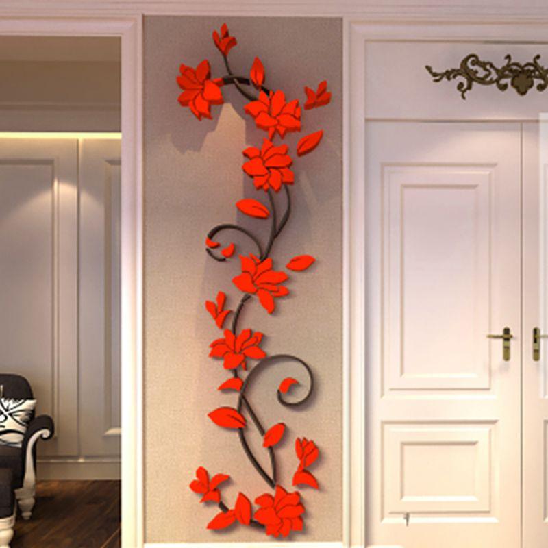 3D DIY ваза, Цветочное дерево, съемные художественные виниловые наклейки на стену, наклейка для декора дома, украшения для спальни, лидер прода...