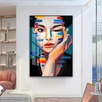 Toile dart mural moderne  mode nordique elegante  belle dame  affiche  image imprimee pour bureau  salon  decoration de maison