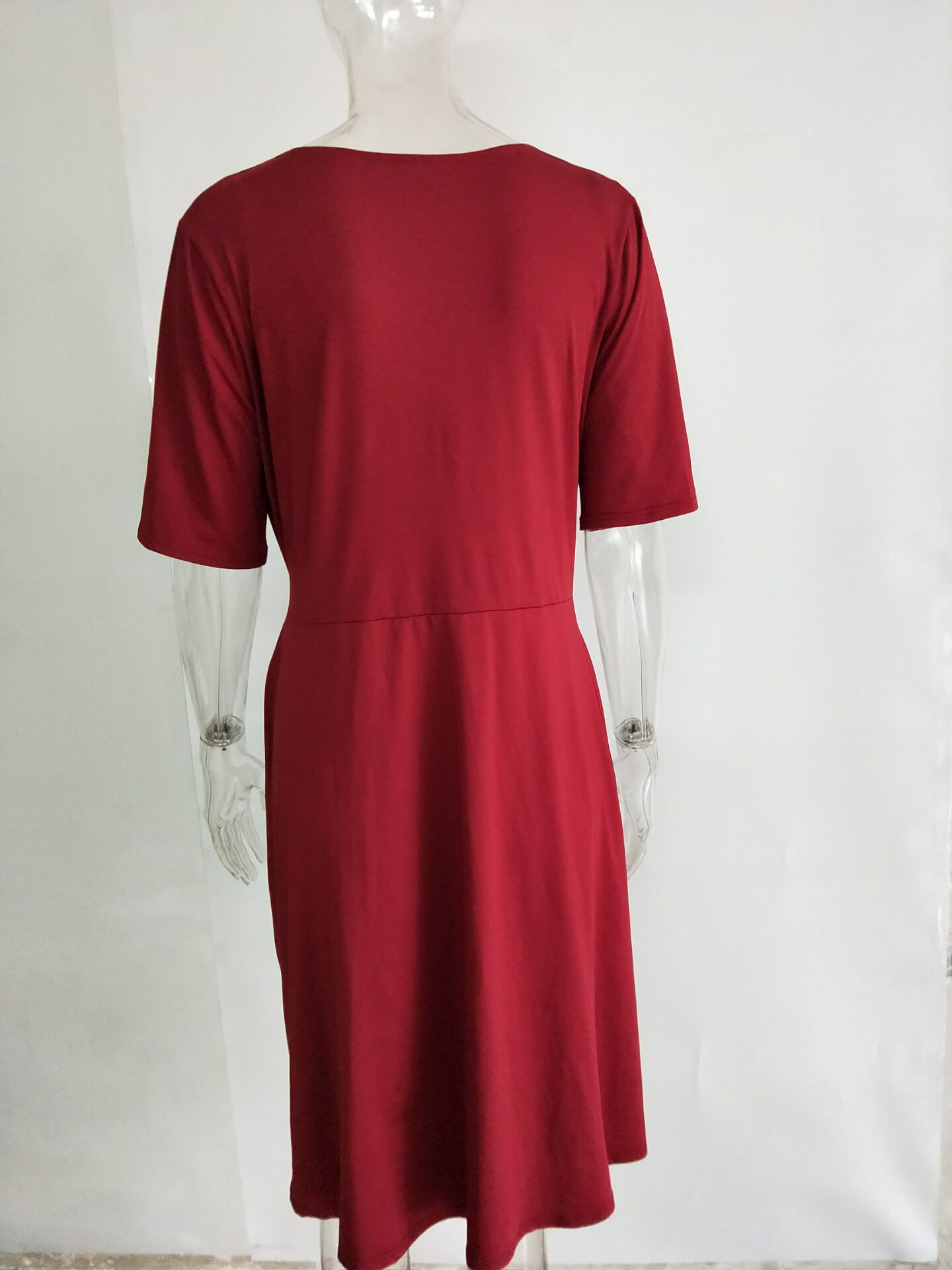 2021 V-neck Maternity Wrap Self-tie Waist Dress Breastfeeding Clothing Pregnant Casual Dress Robe Grossesse enlarge