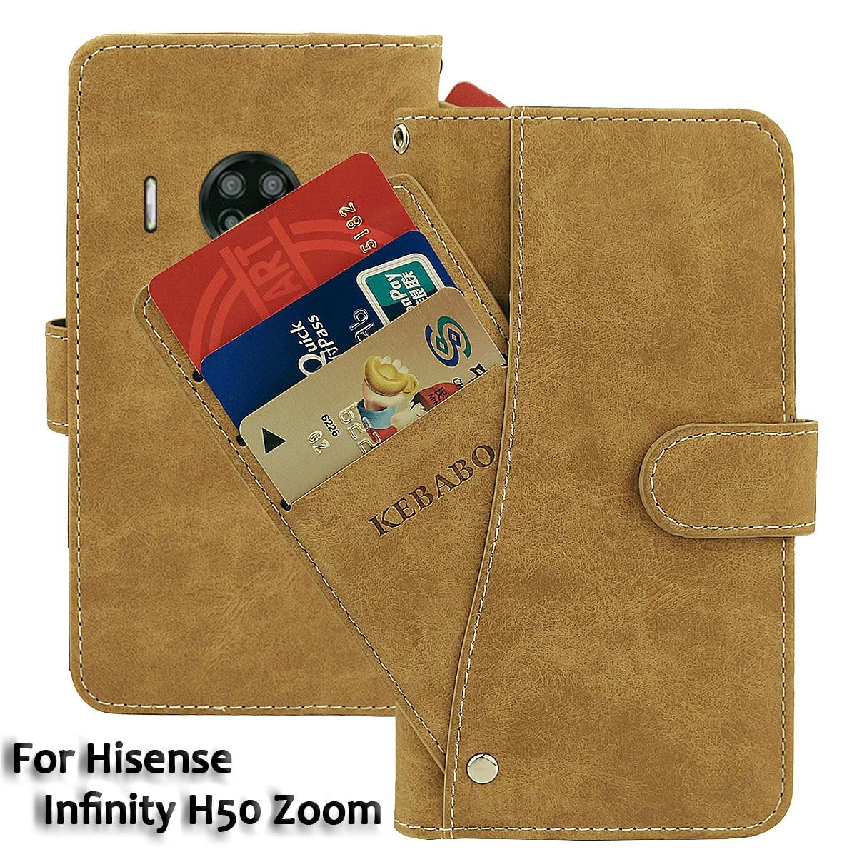 Vintage Leather Wallet Hisense Infinity H50 Zoom Case 6.53