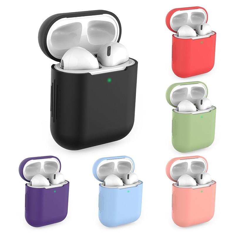 Caso para apple airpods 2 fones de ouvido sem fio colorido universal para apple airpods 1 esportes silicone capa protetora