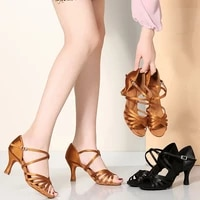 female sandals latin dance shoes woman gold heeled adult women shoes professional soft sole sneakers women ballroom rumba shoes