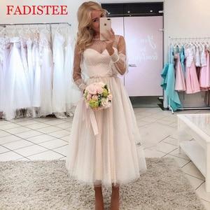 Lace point long sleeves communion dresses Evening Dress prom party Robe De Soiree longue Formal Dress simple robe de soiree lace