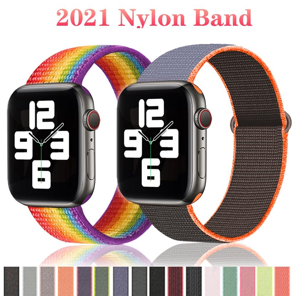 Nylon Strap for Apple Watch Band Series 6/Se/5/4 44mm 40mm 42mm 38mm Smartwatch Watchband Belt Sport