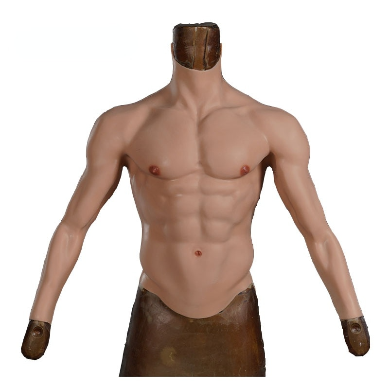 Realistic Silicone Fake Muscle Suit with Arm Men's Role Playing Belly Man Artificial Fake Pectoral Upper Pectoral Muscle