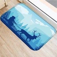 40x60cm cute deer diy print floor mat bathroom ground mat slip door bath pad rug living room kitchen carpet home decor