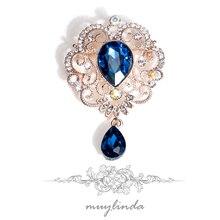 Broches baroques pour femmes bijoux femmes fête cristal goutte deau broche et épingles vêtements écharpe bijoux