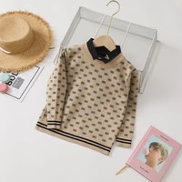 boys knitted sweaters 2021 new autumn winter lightweight casual lapel children tops long sleeve kids clothes for boys
