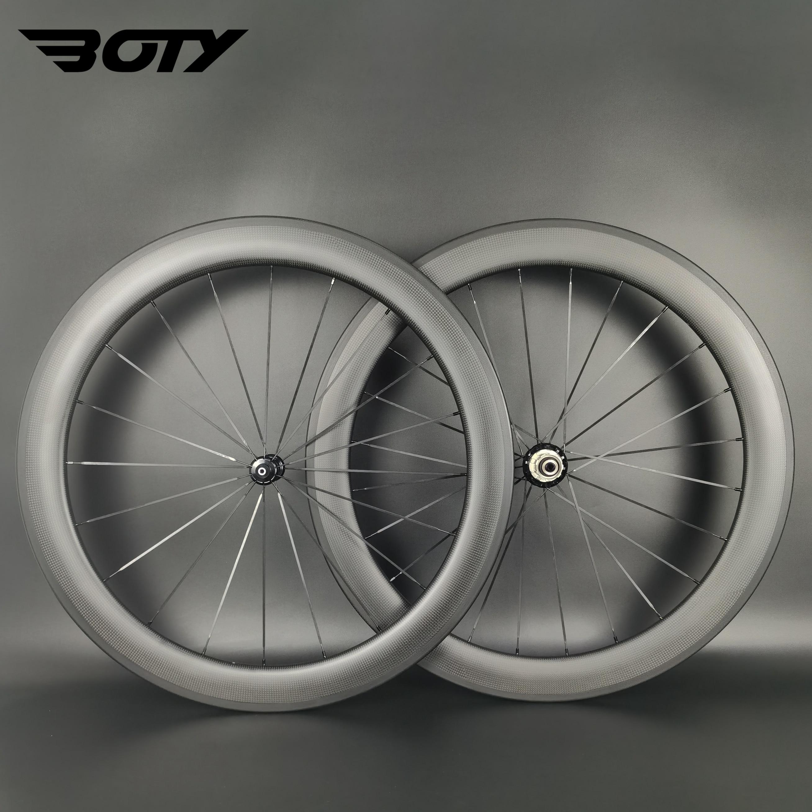 كامل الكربون 700C الطريق الدراجة عجلات 60 مللي متر عمق 23/25 مللي متر عرض الفاصلة/أنبوبي/لايحتاج الطريق دراجة عجلات مع 3k ماتي إنهاء