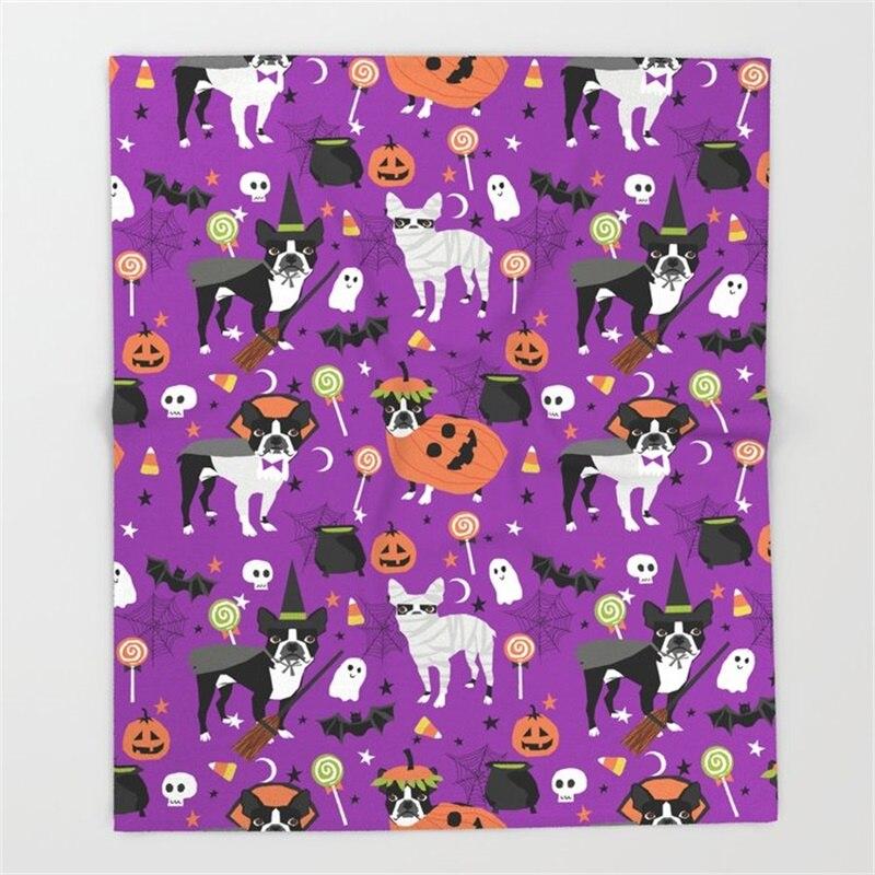 بوسطن جحر هالوين-الكلب ، الكلاب ، الكلب تولد ، الكلب زي ، تأثيري لطيف الكلب رمي بطانية ستوكات الدافئة أريكة الفراش
