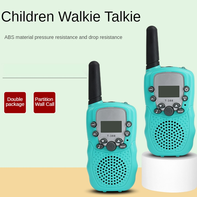 Dropshipping Electronic Product Children's Toy Walkie-talkie Light Blue Mini Radio Parent-child Interactive Walkie-talkie Toy