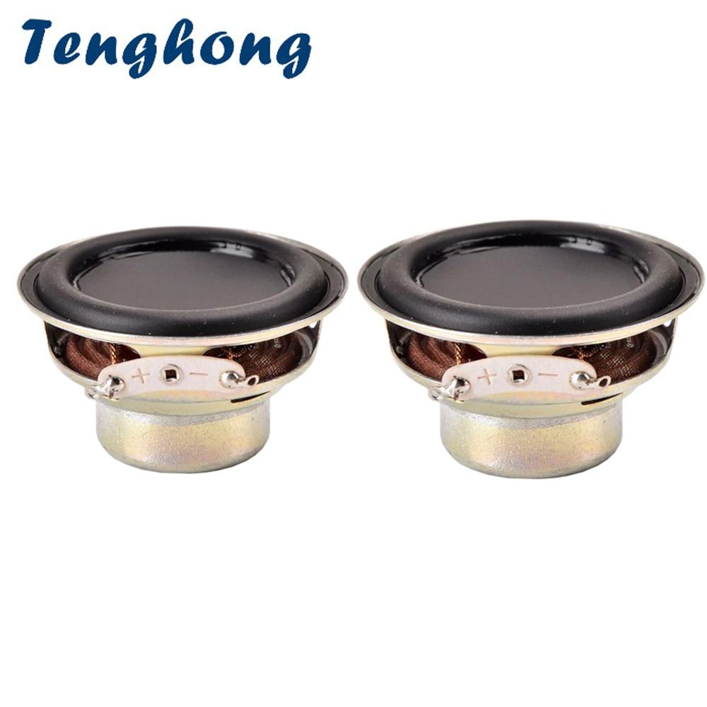 Tenghong 2 piezas 52MM 16 Core altavoz impermeable 4Ohm 10W Bluetooth altavoz de frecuencia completa doble altavoz magnético Multimedia DIY
