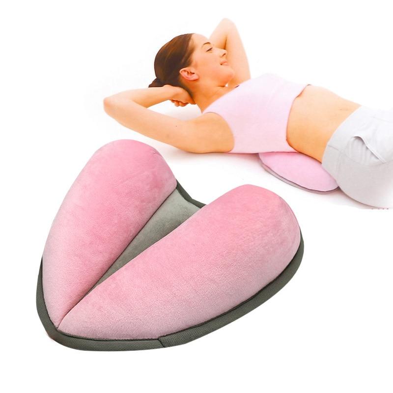 وسادة يوجا مخملية على شكل قلب ، وسادة بطن جميلة متعددة الوظائف ، وردي ، رمادي ، وسادة نوم 2019
