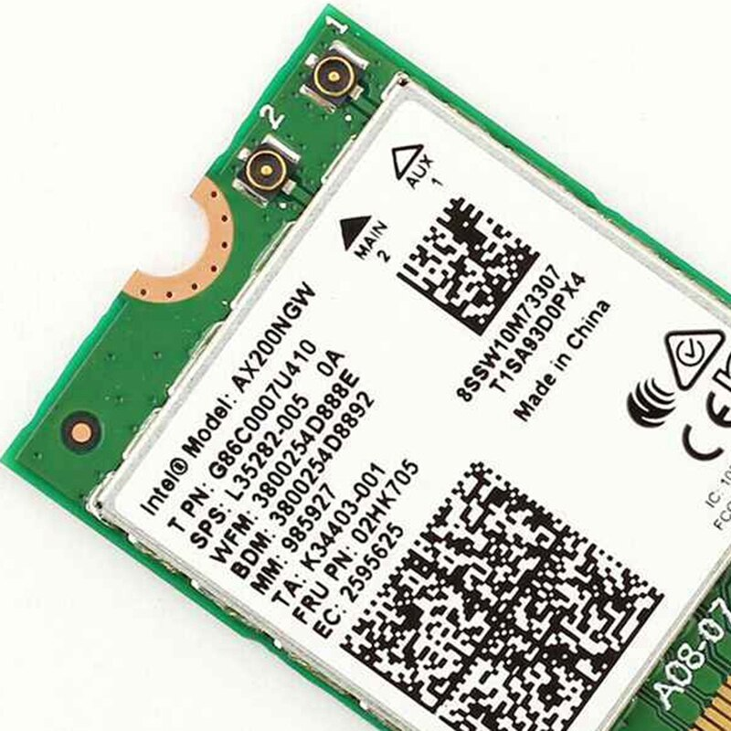 2400Mbps Dual Band  Wi-Fi 6 AX200NGW 802.11ax/ac MU-MIMO 2x2 Wifi For AX200 NGFF M.2 Bluetooth 5.1 Network Wlan Card+Antennas enlarge