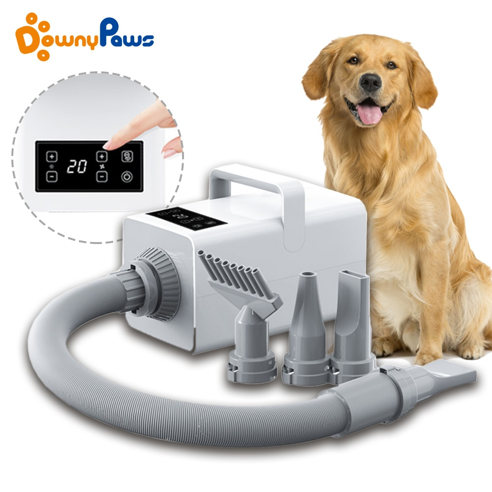 Professional LED Pet Dog Dryer Cat Grooming Negative Ion Blower Hot Wind Heater Adjustable Blow-dryer Force Hair Dryer For Dogs