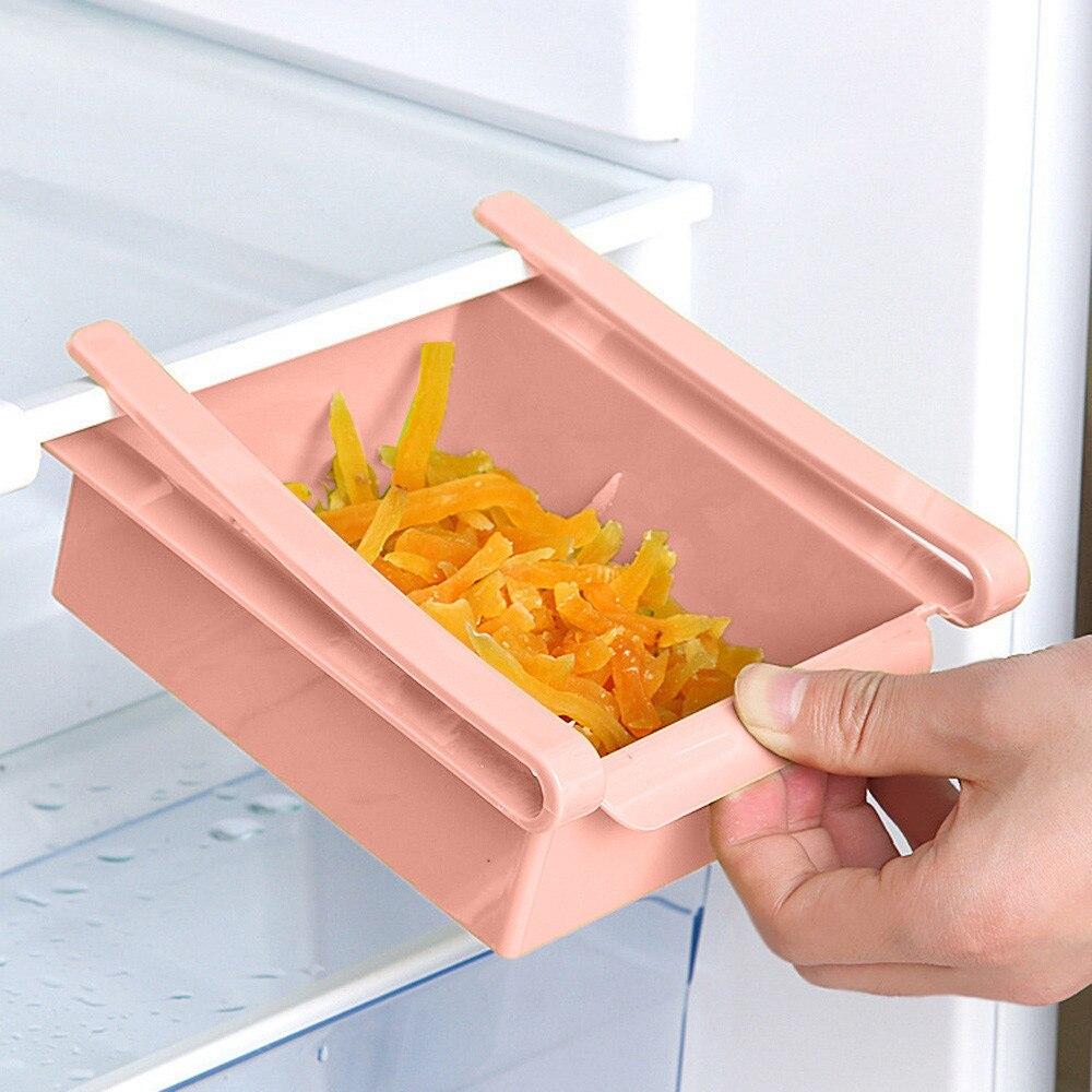 Mini ABS DIY tobogán de cocina nevera congelador ahorro de espacio organización estante de almacenamiento estante de baño estante organizador titular