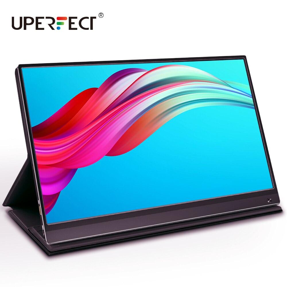 UPERFECT 15.6 بوصة USB C HDMI 1920*1080P PD HDR شاشة تعمل باللمس مع بطارية 10800mAh سامسونج شاشة الألعاب المحمولة