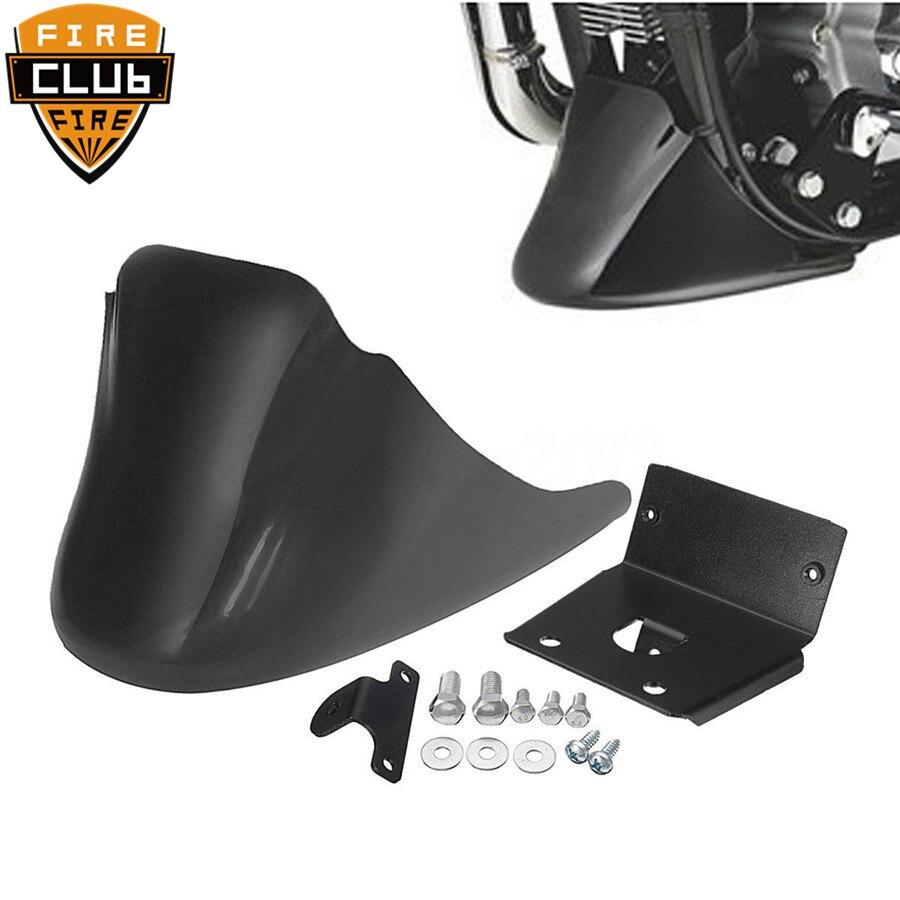 Motorcycle  Black Front Bottom Spoiler Mudguard Air Dam Chin Fairing for Harley  XL Sportster 883 1200