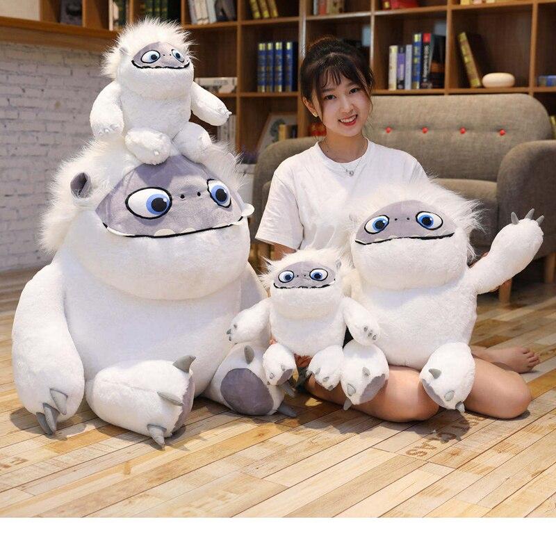 1 Pza 35-55cm 2019 Yeti abombable gran muñeco de nieve mascota mob niño almohada muñeca suave peluche juguetes regalo Navidad Presente