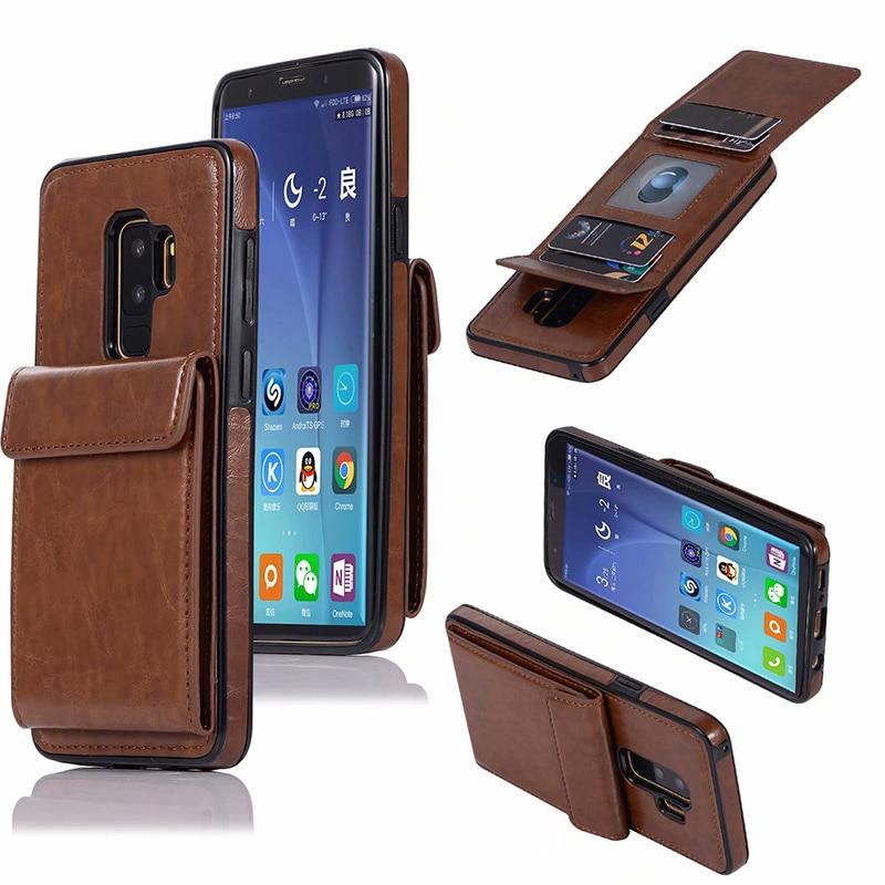 Funda de cuero para Samsung Galaxy S10 Plus S10e S9 S8 S7 Edge cartera funda Vertical Flip tarjeta ranura soporte Multi -funda de teléfono con función