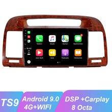 OKNAVI Android 9.0 autoradio multimédia lecteur vidéo pour bois de pêche Toyota Camry 2002-2006 Navigation GPS 2 Din WiFI 4G pas de Dvd