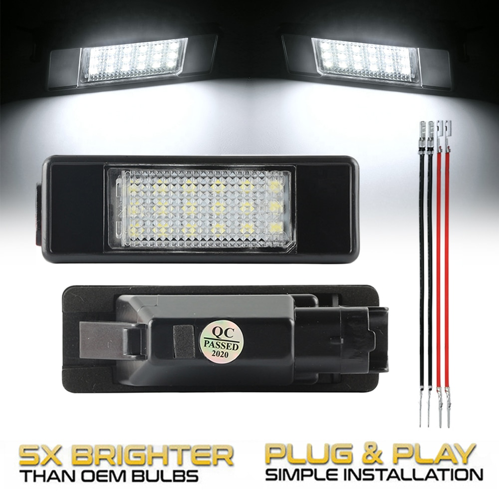 2 шт. автомобильные задние 18 светодиодный ные лампы для номерного знака для Citroen C3 C5 Berlingo C4 Picasso C2 DS3 C6 Jumpy C8 DS5 Evasion
