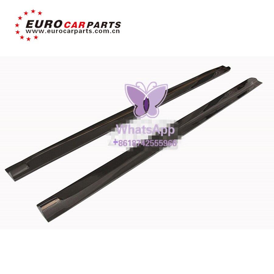 BM X6M F16 alerón de fibra de carbono falda lateral para X6 F16M 3D alerón de fibra de carbono falda lateral spoiler