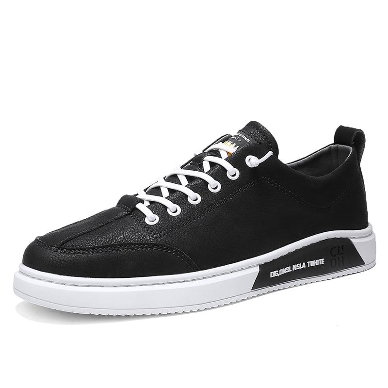 2020 zapatos de primavera versión coreana zapatillas de Hombre Zapatos casuales de cuero suave para hombres zapatos de marca de moda para hombre zapatos blancos *