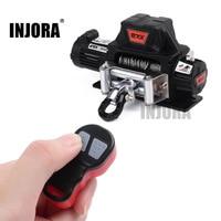 Беспроводная металлическая Автоматическая лебедка INJORA, пульт дистанционного управления для 1:10, Радиоуправляемый гусеничный автомобильны...