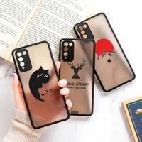 honor 10x lite 20 8x matte painted hard pc case for huawei p smart 2021 p30 pro p40 lite nova 5t y9 prime 2019 phone case covers