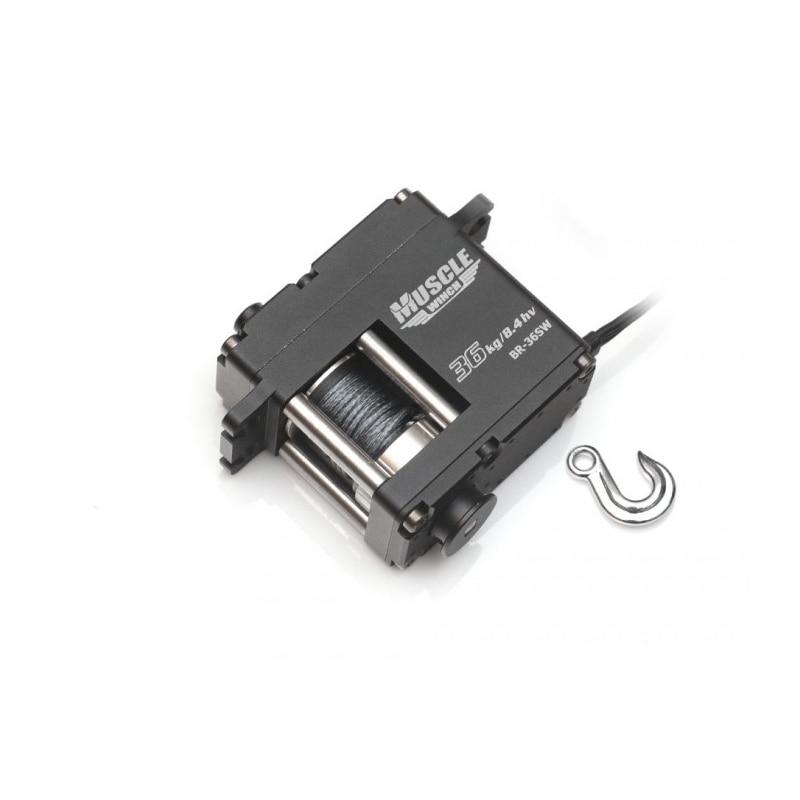 Large torque 36KG waterproof metal winch simulation winch model winch